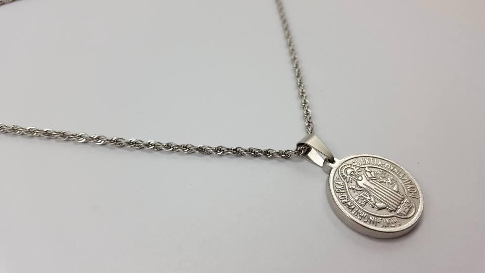 5ac646a05be Cadena soga 50 cm con dije medalla San Benito mediano – Pronti